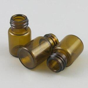 Image 5 - 100 X 2ML Mini Amber Glass Essential Oil Bottle Orifice Reducer cap Brwon Glass Vials Small Glass Bottle for E liquid