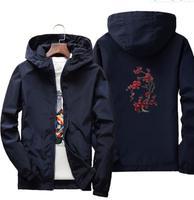Uomo giacche HOODY estate rashguard giacca giacca a vento giacca a vento hip hop studente di college vento breaker jaqueta masculina