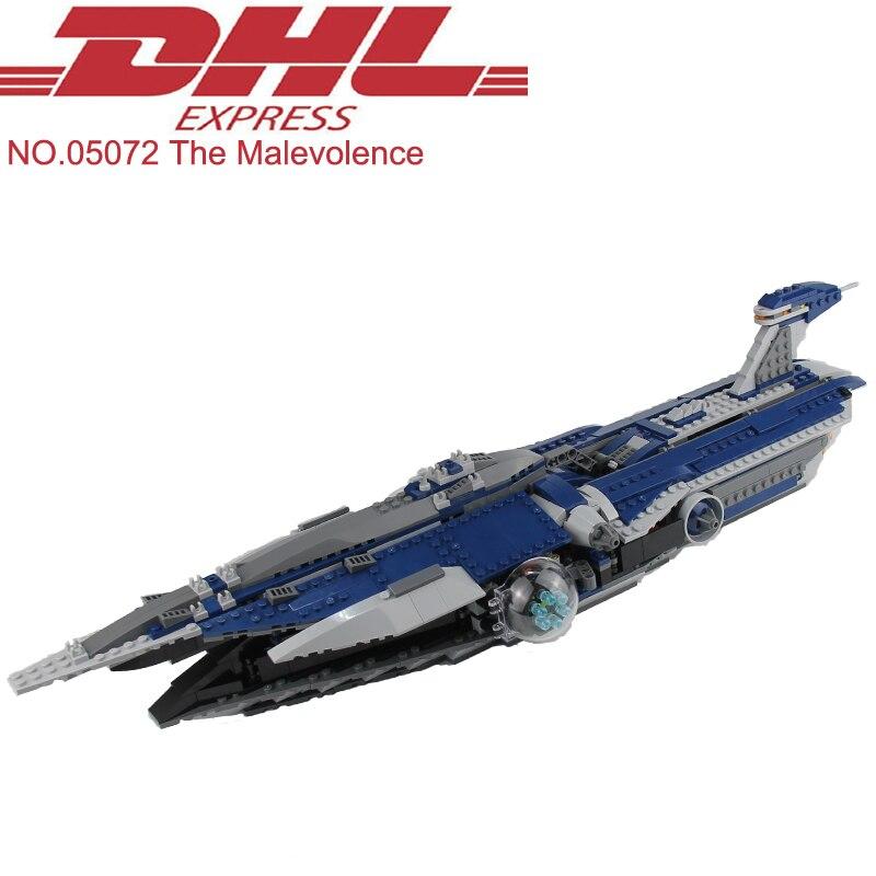 где купить 2018 New Lepin 05072 Star Wars Figure 1192Pcs The Malevolence Model Building Kits Blocks Bricks Toy For Children Compatible 9515 по лучшей цене