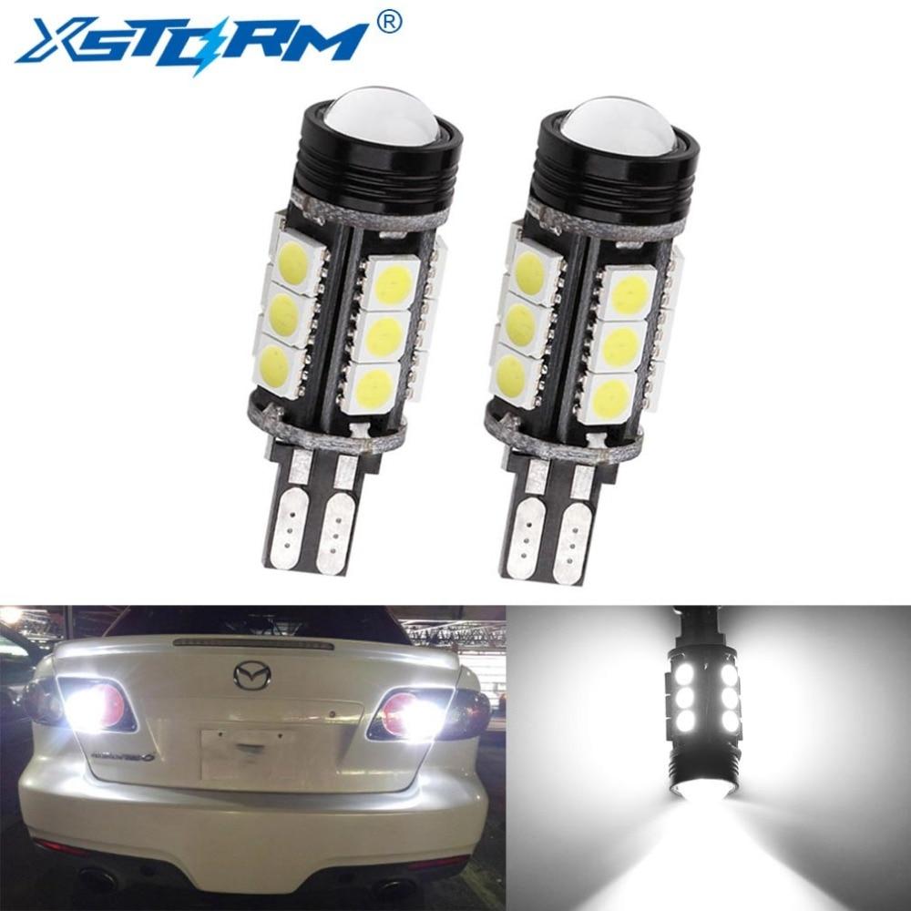 2pcs W16W LED Canbus T15 Led Bulbs Reverse Light 921 912 5050 SMD COB Car External Backup Rear Lamp 12V 6000K White Auto