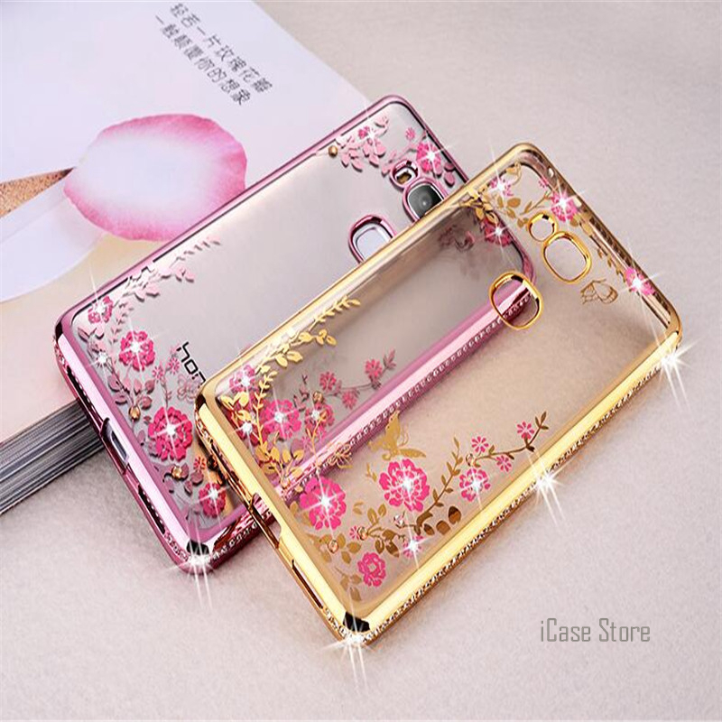 Secret Garden Luxury Plating TPU Silicone Case For Huawei Ascend P8 lite P9 lite Mate 8 Honor 5X Back Cover Soft Phone Cases ...