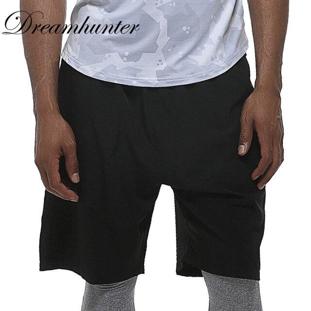 Nero degli uomini Pantaloncini Da Corsa Con Tasca Elastica In Vita Quick  Dry Pantaloncini Da Basket e522ad3fabe3
