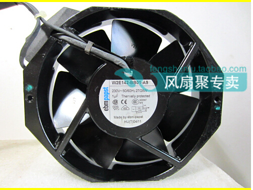 The original German ebmpapst W2E142-BB01-A9 230V172*150*38MM metal high temperature fan belt. original s a n j u sj1738ha2 172 150 38mm 220vac 0 31a axial fan