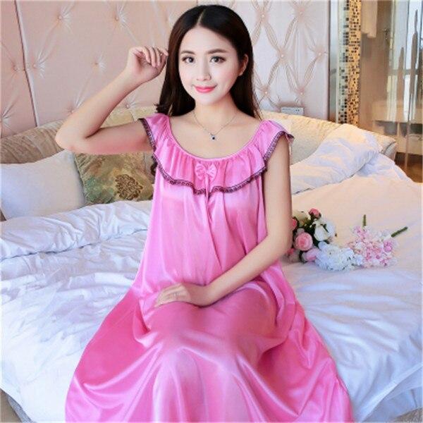 Hot Women Night Gowns Sleepwear Nightwear Long Sleeping Dress Luxury Nightgown Women Casual Night Dress Ladies Home Dressing Z79 16