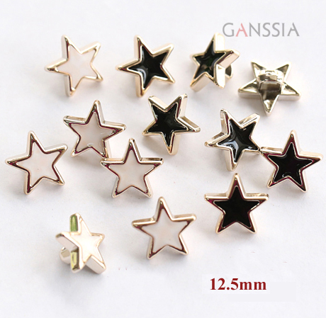 30pcs/lot star shirt plastic buttons,Gold color plating sewing star buttons,apparel accessories(aa-51)