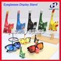 6pcs/lot Miniature Cat  Sunglasses Display Stand Lovely Cartoon Wooden Children Kids Eyeglasses Glasses Display Stand Holder