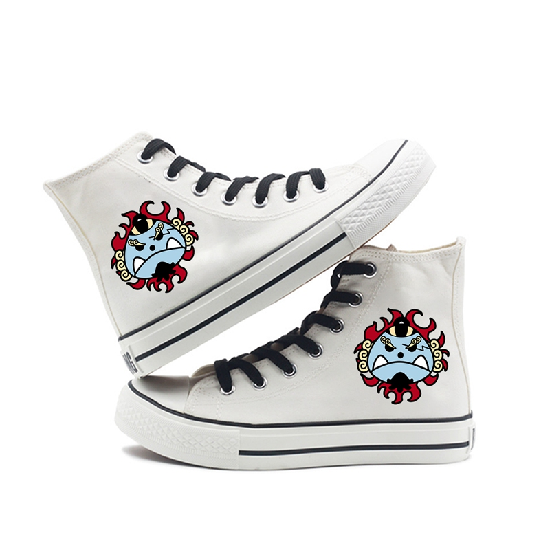 Cool Pirate Regiment Logo Printing Cartoon high top breathable canvas uppers sneakers student personalise fashion Sandshoes