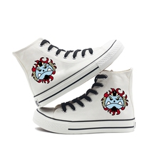 Cool Pirate Regiment Logo Printing Cartoon high top breathable canvas uppers sneakers student personalise fashion Sandshoes printing justice league hero cool cartoon logo high top breathable canvas uppers sneakers student personali fashion casual shoes