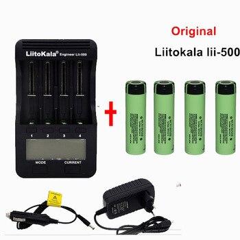 Liitokala lii-500 LCD 3.7 v/1.2 v 18500/26650/16340/14500/10440/18650 Bateria carregador + pcs para panasonic 18650 3400 4 mah bat