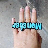 Acryl lasersnijden sieraden Custom MONSTER ring
