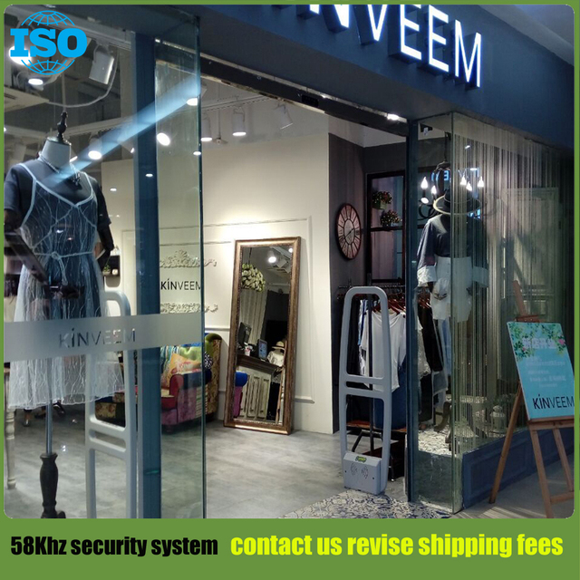 Fashion store clothing anti theft security system 58Khz eas system with sound and light alarm