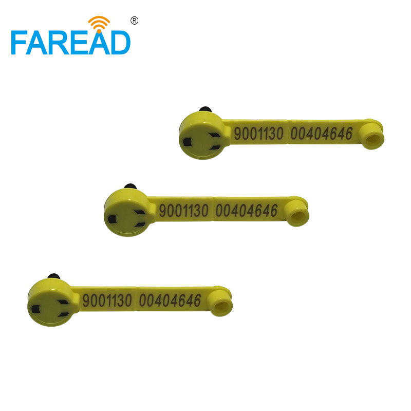 Best Quality X50pcs FDX-B Low Frequency 134.2KHz Animal RFID Ear Tag For Sheep Identification