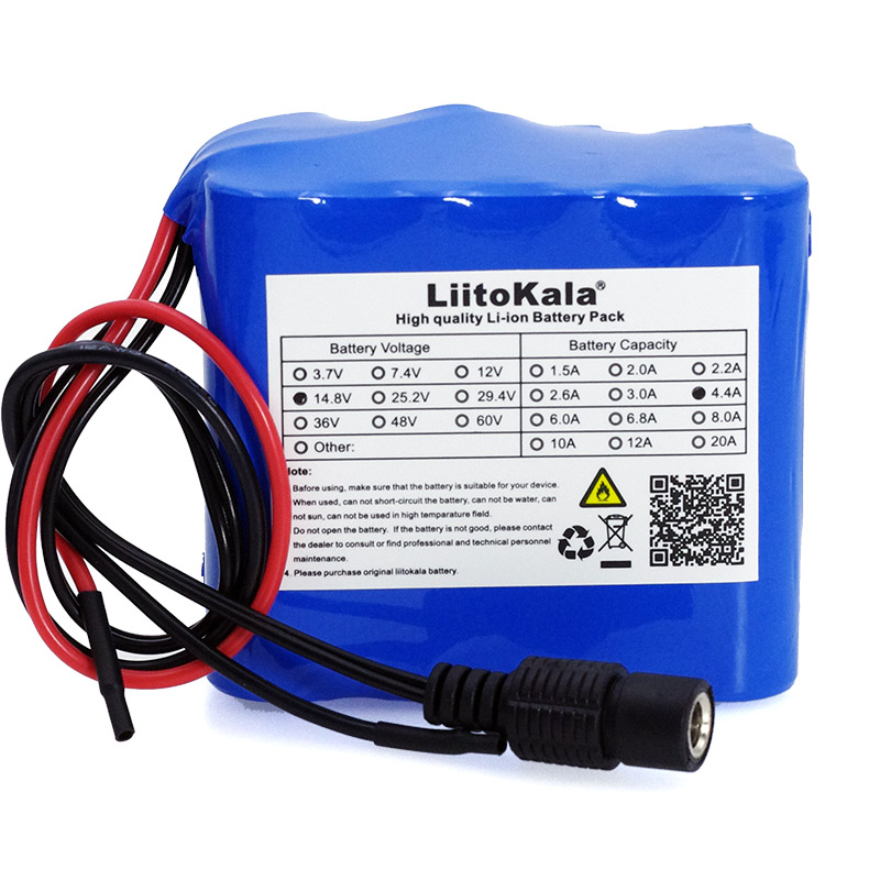 Image 3 - LiitoKala 14.8V 4.4Ah 18650 li iom battery pack night fishing 