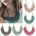 Fashion Jewelry Bohemian Tassels Fringe Drop Vintage Weave Multilayer Collar Necklace Choker Chain Statement Necklace & Pendants