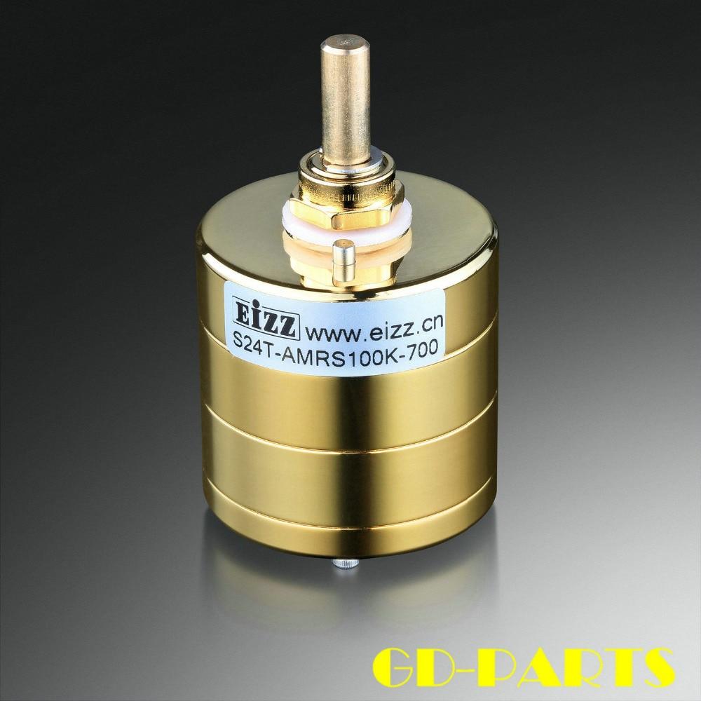 EIZZ Premium Gold 24 Step Stereo Attenuator Volume Potentiometer 10K 100K 250K ARMS Resistor For HIFI
