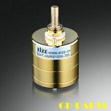 EIZZ Premium Gold 24 Passo Stereo Attenuatore Volume Potenziometro 10K 100K 250K Resistenza di BRACCIA Per HIFI AUDIO AMPLIFICATORE VALVOLARE Vintage FAI DA TE