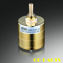 EIZZ Premium altın 24 adım Stereo zayıflatıcı hacim potansiyometre 10K 100K 250K kolları direnç HIFI ses Vintage tüp AMP DIY