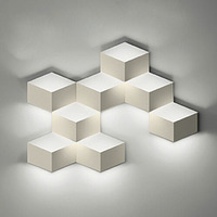 modern Creative wall lamp bedside simple LED wall lamp three dimensional aisle study wall lamp box box fashion wall lamp