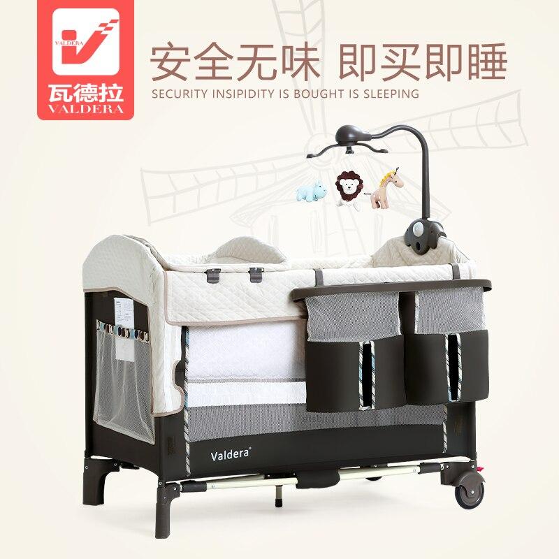 Valdera портативный складной butt cot многофункциональные детские кровати с большая кровать новорожденных Колыбель