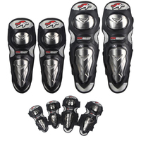 PRO BIKER Motorcycle Knee Brace Support Elbow Pads Sports Moto Kneepads Protection Motorcycle Equipment Black Color Knee Protect