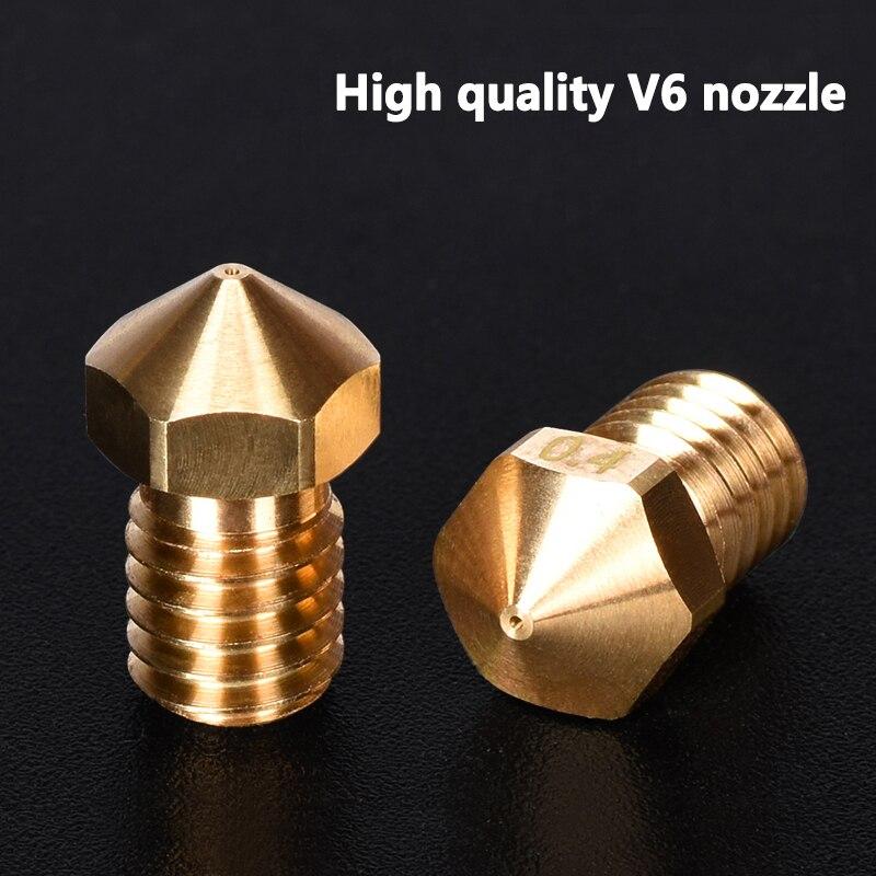 High Quality Brass V6 Nozzles For 3D Printer Parts 0.2mm Nozzle For M6 E3D Nozzles Titan Extruder J-Head&MK8 Ender 3 Cr10