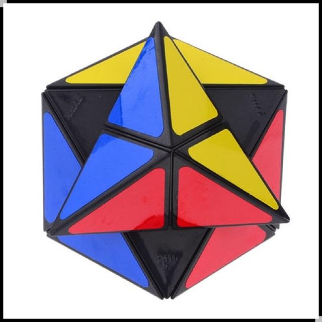 New206 Nuevo Dinosaurio Profesional Cubo Mágico 3x3x3 57mm Cubo Mágico Puzzle Velocidad Giro Negro Clásico juguetes de Aprendizaje de Educación