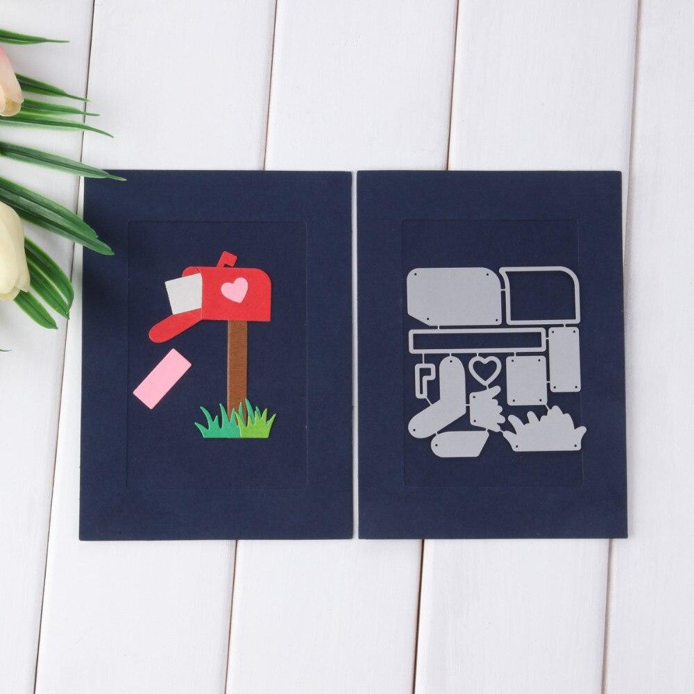 88*94mm Assemble Mail Box Set Metal Cutting Die Scrapbooking Embossing Stencil Card Die For DIY Invitation Album Book Decoration