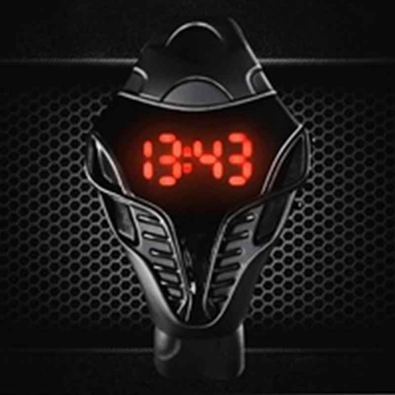 Men's Waterproof Sport Watch Male LED Digital Watch relogio masculino Cobra Triangle Dial Silicone Sports Watches reloj mujer