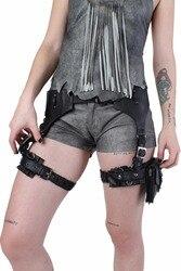 Noir vendredi ventes Steampunk moteur vintage homme Pack cuisse étui protégé sac à main femmes sac jarretière ceinture pistolet épaule jambe étui
