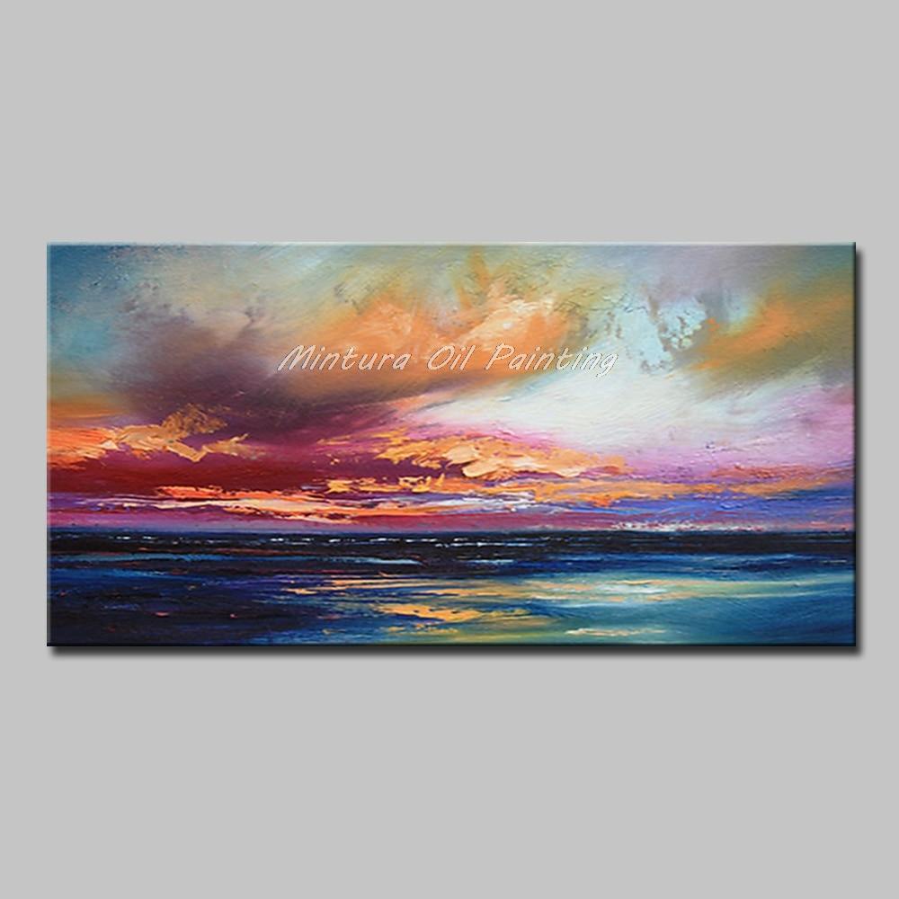 Mintura Art Большой размер Ручная роспись абстрактный пейзаж картина маслом на холсте современный настенный Декор картина для гостиной без рамы - Цвет: MT161286