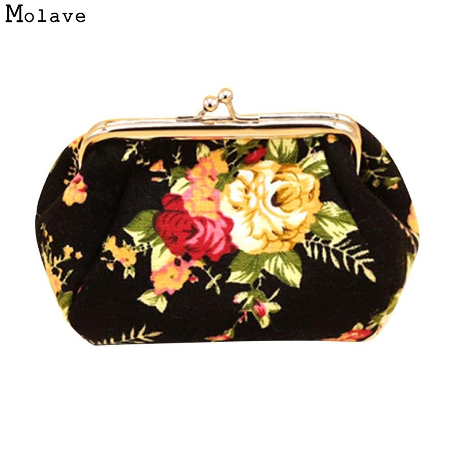 Naivety Hasp Coin Purse New Women Retro Small Wallet Lady Vintage Flower Clutch Bag Good Floral Gift Bags JUL28 drop shipping panasonic nn gt261wzpe