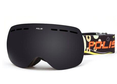 Prix pour POLISI Enfants Enfants Double Couche Anti-Brouillard Gris Lentille De Neige Ski Lunettes Protection UV Anti-Buée Ski Lunettes Snowboard Lunettes