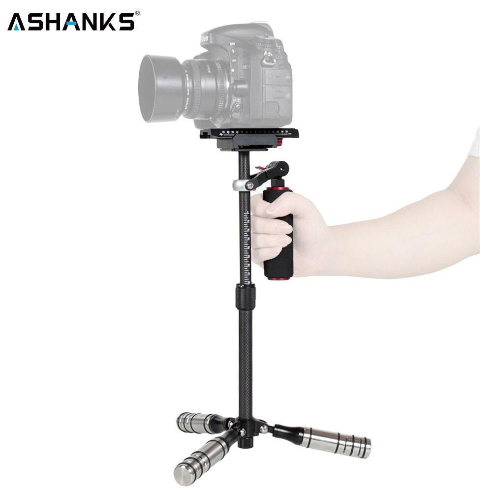 ASHANKS photographie Dslr Mini stabilycam caméra de poche stabilisateur en Fiber de carbone Steadicam pour téléphone/gopro/caméra charge 0.5-3 KG