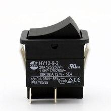 2 חתיכות KEDU HY12 9 2 4 סיכות לדחוף כפתור מתג ב OFF דחיפת קשת מתגי מפתח חשמלי כלי חשמל 125/250V 20A/1.5HP