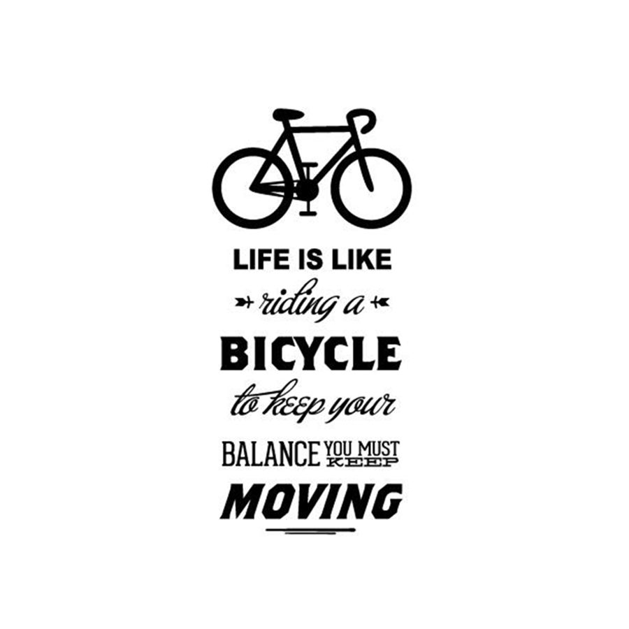 Life Is Like Riding A Bicycle Quote Bike Wall Sticker DIY Cycling Words Vinyl Bike Wall Art Decal Sticker Mural Home Decoration little book of earrings
