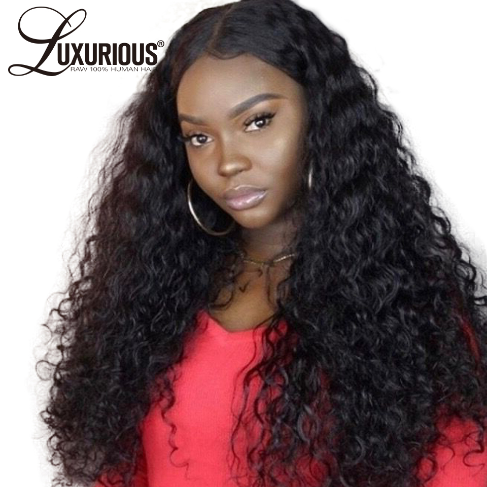 360 Lace Frontal Wig Pre Plucked With Baby Hair Full Brazilian Remy Water Wave Long Lace Front Human Hair Wigs For Black Women(China)