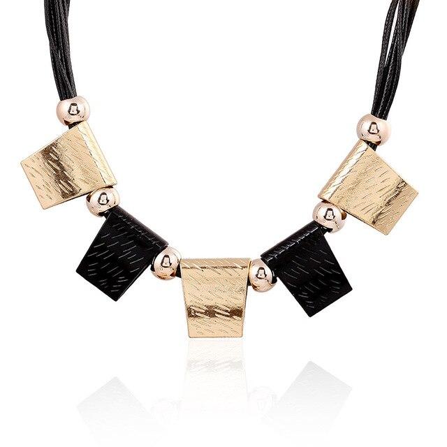 Lzhlq модное раньше панк Макси ожерелья эффектные геометрические