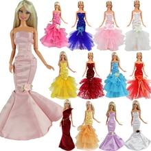 Newest 5 Doll Mermaid Clothes Dresses Random Pick +10 Shoes For Barbie Accessories Elegant Handmade Wedding princess Dress