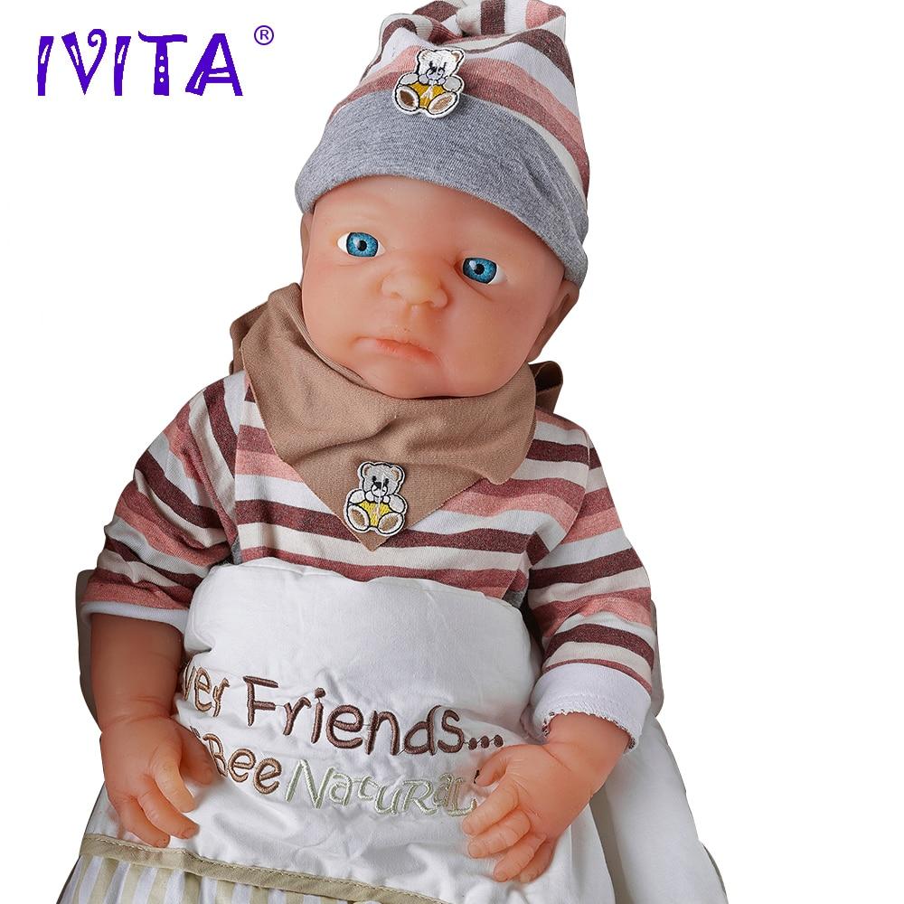 IVITA WG1506 51 см (20 ) 4 кг силикона Reborn Baby реалистичные малыша Bebe раннего образования Игрушка имитация для детей