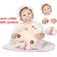 NPK 50cm Reborn Baby Doll Simulation Baby Dolls Silicone Cotton Toy Rubber Reborn Toddler Soft Doll Toys For Children #ED