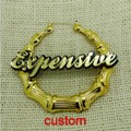 Name Customized Bamboo Style Stud Earring    24pairs/lot