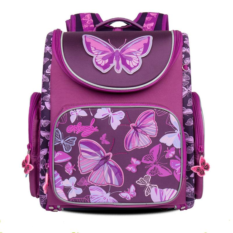 New Girl School Bag Orthopedic Backpack for Children Cartoon Animal Butterfly Prints High Quality Waterproof nylon book Bag dazzle butterfly prints diamond paintings