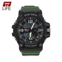 TTLIFE Men Sports Digital Military Watch Waterproof Swimming Running Casual G Style Clock Male Shock Resistant