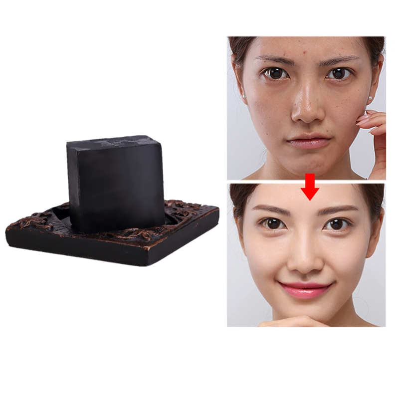 25/50/100g Black Natural Active Enzyme Crystal Skin Whitening Soap Body Health Soap For Private Parts Fade Areola Anti-oxidant