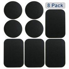 8pcs Metal Plates Sticker Car Mount Replace Adhesive Plate For Magnetic Phone Holder Super Thin Steel Insert
