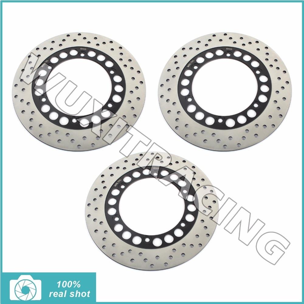 Передний задний полный комплект тормозные диски роторов для YAMAHA rzr по 250 90 250 350 РЗ Р Ф РР 82-95 83 84 85 86 РД 35 ЗК Р 89-95 ФДЖ 600 84 85