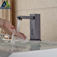 Deck Mount Automatic Hands Free Mixer Sensor Tap Faucet Only Cold Oil Rubbed Bronze Finished