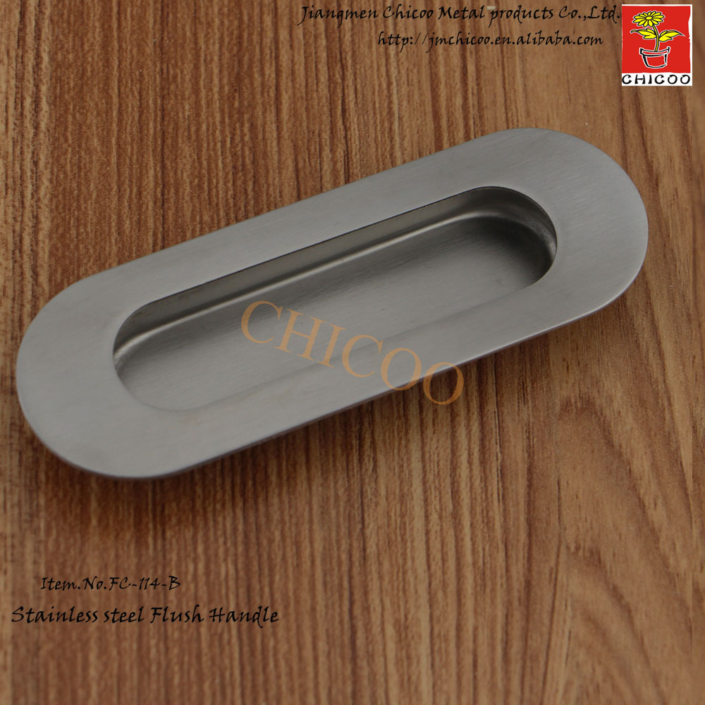 10pcs Oval Flush Recessed Pull Door Handle Stainless steel 304 ...