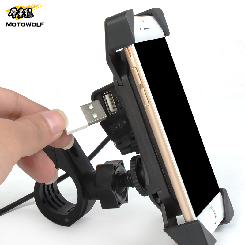 Bike Smartphone Holder 360 Degree Universal Motorcycle Bike Mount For 4 inch to 6 inch mobile phone With USB