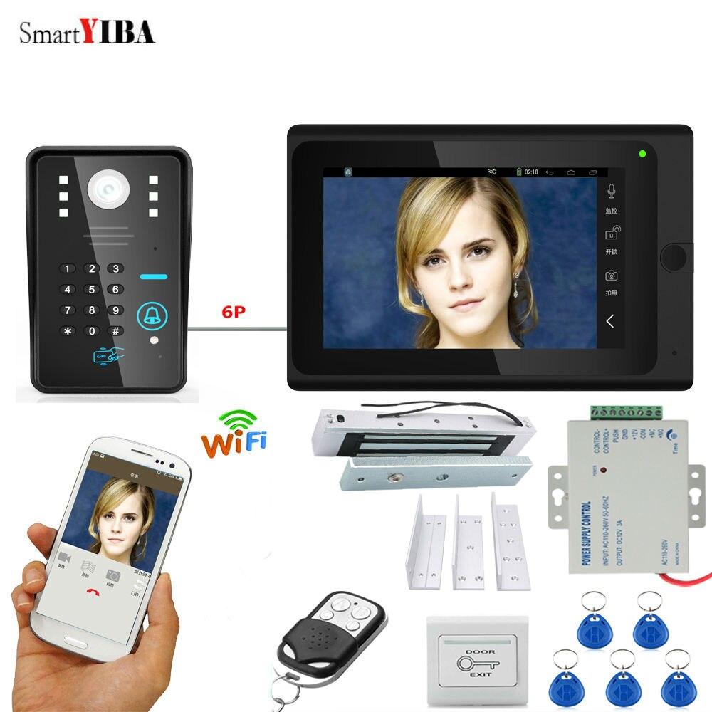 SmartYIBA APP Control Code Unlock Home Security Video System Camera Video Intercom Doorbell+Power Supply Control+E-Lock+ID Card